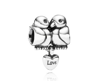 Sterling Silver Turtle Dove Charm