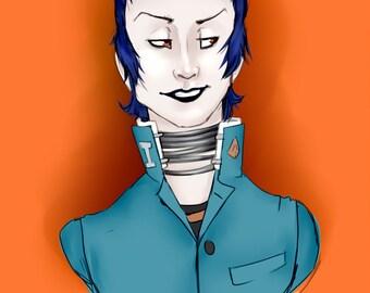 Persona 2 -- Eikichi Mishina Mini Print
