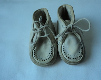 French vintage babies leather shoes/ boots (01007)
