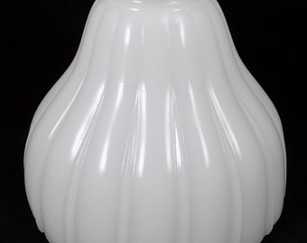 """Glass Shade, Sheffield Style, White Opaque, Lamp Shade, Replacement Shade, 2 1/4"""" Fitter"""