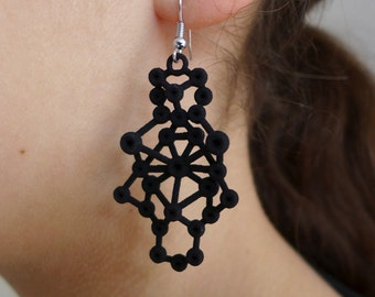 Amorphe Earrings - Science Jewelry - Molecular Earrings