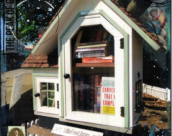 The Free Little Library - Apex, North Carolina - Paper Print