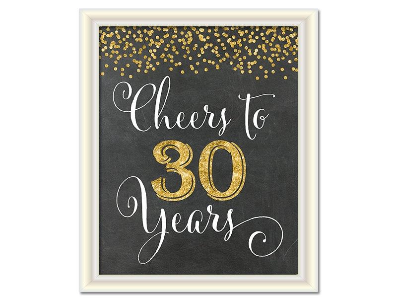 Cheers To 30 Years 30th Birthday on 50th Wedding Anniversary Ts