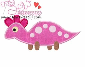Cute Dino-2 Applique Design.