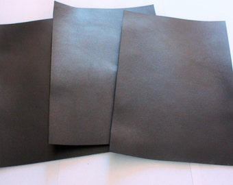A4 21x30 cm Black Veg Tanned Leather Tooling cowhide 2.5mm 6oz thick