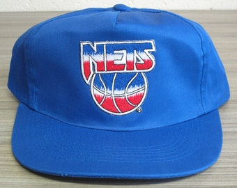 New Jersey Nets - One Size - Vintage 90's NBA Basketball Snapback Cap - New without Tags