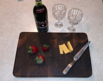 Walnut end grain cutting board, butcher block