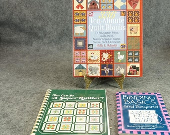 Collection Of 3 Quilting Books C. 1980-1999.