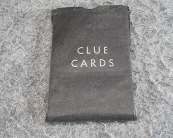 Vintage Set Of 21 Clue Card From The Clue Game