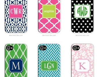 Iphone 6 Custom Monogram Cell Phone Case - Tough with interior bumper