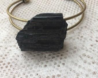 Black touramline cuff