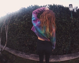 Crop Rainbow Sweater