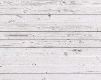 White Wood Floordrop Vinyl Photography Backdrop Newborns Wood Texture Floordrop vinyl backgrounds D-8947
