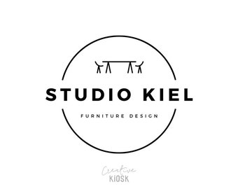 Interior Design Logo Premade Business Furniture Custom Photography Watermark DIY