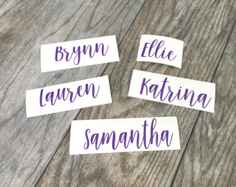 Personalized name vinyl decal - DIY wedding - tumbler decal - champagne glass decal - customizable - bachelorette party - wedding