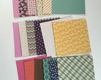 Scrapbook paper, 6x6 paper, scrap pack, paper pack, colorful paper pack