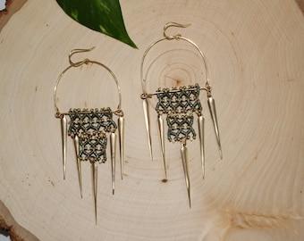 Dizzy Age Beaded Chandelier Earrings