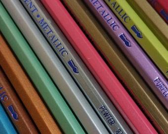 Derwent sketching pencils, metallic pencils, art supplies