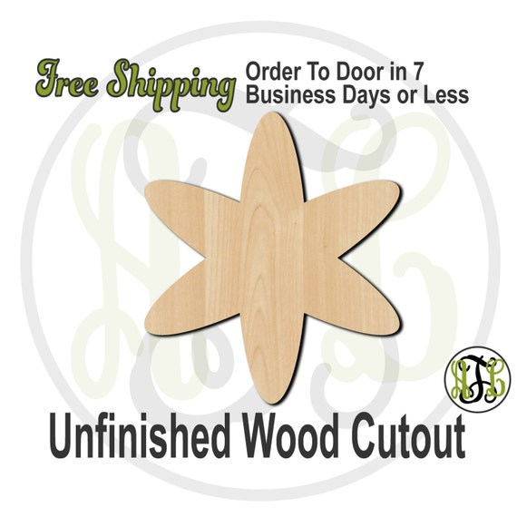 Plaque Asterisk - 40030- Cutout, unfinished, wood cutout, wood craft, laser cut shape, wood cut out, DIY, Free Shipping