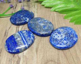 One (1) Lapis Lazuli Worry Stones for reiki healing, Oval Worry Stones chakra balancing, crystal grid, Lapis Lazuli Palm Stones