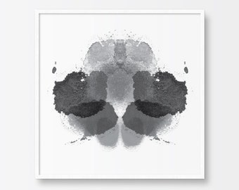 Printable Art, Inkblot Test, Abstract Art, Rorschach Test, Black and White Print, Ink, Paint, Abstract Painting, Printable Wall Art,