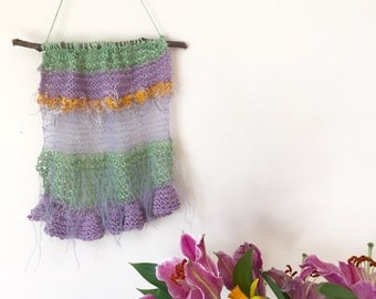 Handmade Pastel Knitted Wall Hanging Decoration