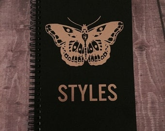 One Direction | Harry Gold Name Notebook