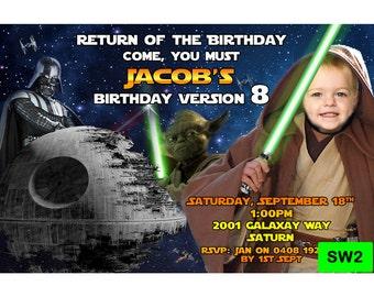 Star Wars Invitation - Digital Personalized Invite - Star Wars Party Invite SW2
