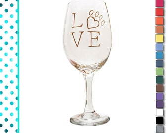 Gifts for Dog Lovers, Custom, Wine Glass, Painted