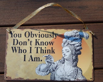 vintage stylefunny wall plaque