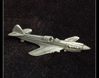 Curtiss P-40 Warhawk Fighter Plane Vintage Tie Tack Pin