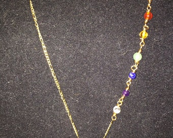 Reiki Charged Gold Plated Chakra Healing Necklace