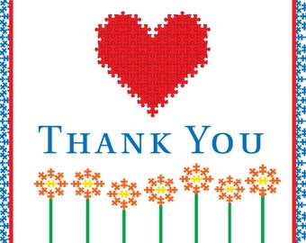 Thank You card – Autism 13