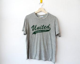 Vintage United Plastering system t shirt Gray heather Medium Size