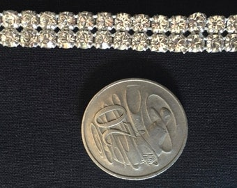 Double string of  diamantes 7mm by 90cm   **Free Postage**