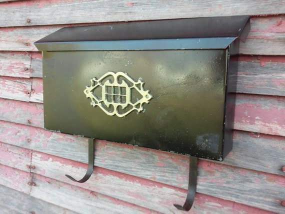 Wall Decor Mailbox : Vintage metal mailbox decorative maibox with ornate