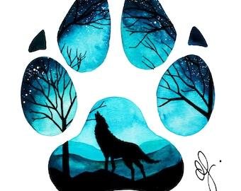 Wolf Paw A3 Print