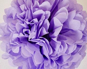 Lavender Paper Pom Pom
