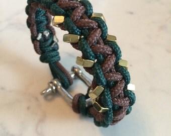 Paracord Bracelet steel shackle bolts