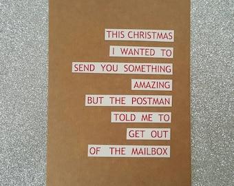 Funny christmas card / funny holiday card  humorous christmas card  christmas card funny christmas card bestfriend christmas card for friend