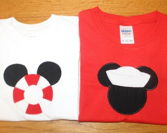 Disney Cruise Shirts; Sailor Mickey; Life Vest Mickey