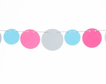 Confetti Garland, New Years Decor, Holiday Decor, Birthday Garland
