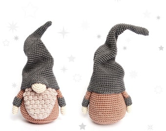 Christmas GNOME (Big) Crochet Pattern / Scandinavian Gnome