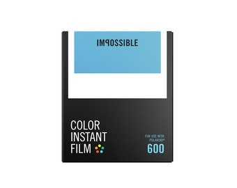 "Color Instant Film for 600 by ""The Impossible Project"" for Polaroid Cameras"