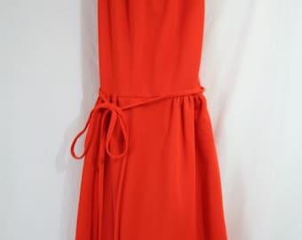 Vintage Burnt Orange Dress