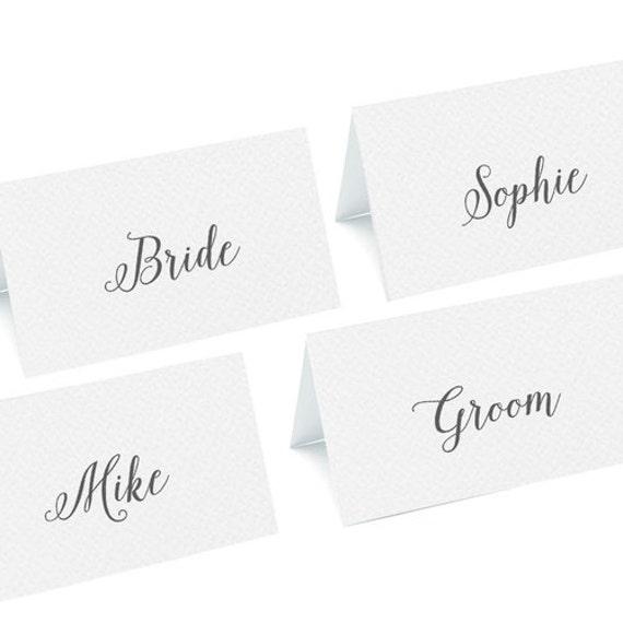 Calligraphy script name cards elegant wedding place