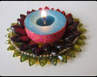 Floating Kundan Diya/Tea Light Candle Holder/Diwali Diya