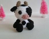 Cow Mini Pet Amigurumi. Crochet Stuffed Cow. Cow Plushie. Cow Plush Nursery Decoration