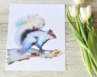 Woodland creatures, Woodland nursery decor, Squirrel Art Print, Watercolour Print Squirrel, Country Home Decor, wallart, INSTANT Download