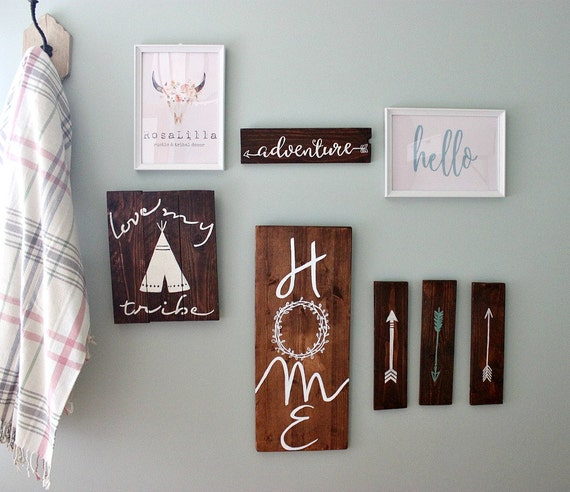 rustic home decor home wood sign large wood sign by rosalilla